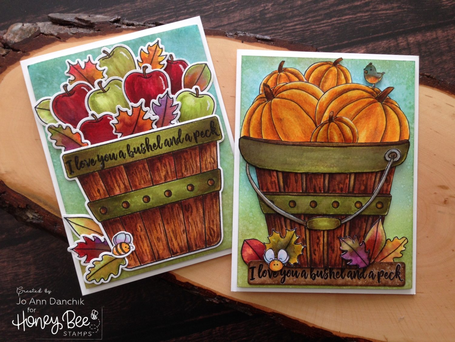 Creative Sundays with Jo Ann: Bushel and A Peck – One Stamp…Two Ways.