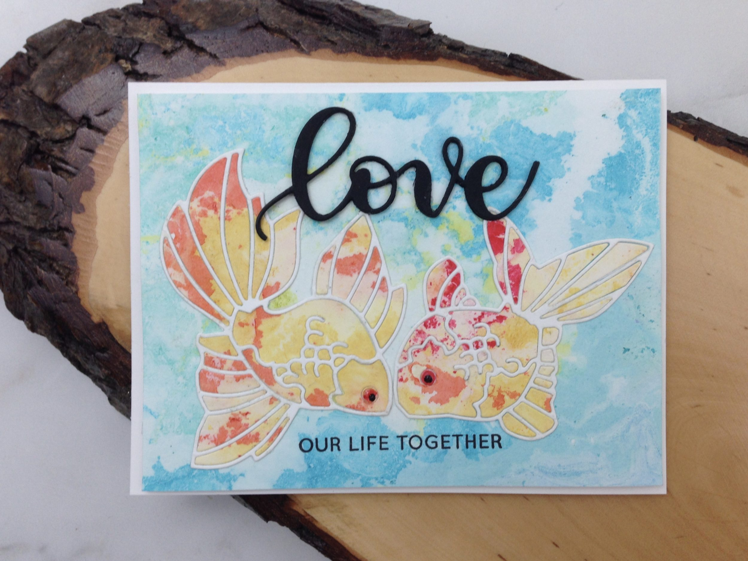 Alcohol Ink Technique and Koi Dies: Love Our Life Together